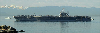 Visiting US  Aircraft Carrier Victoria BC Canada