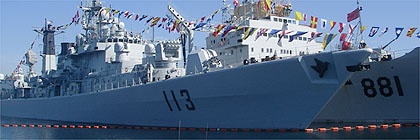 Chinnese navy ships visit Canada