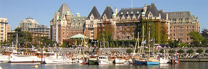 Inner Harbour Docks and Walkway Victoria BC