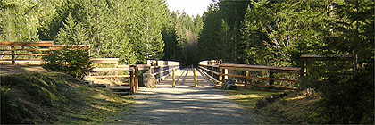 66 Mile Trestle Trans Canada Trail Vancouver Island Section BC