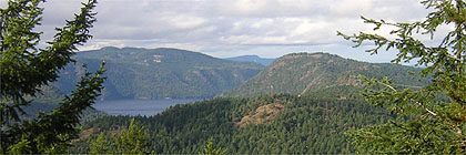 Gowlland Tod Park from Mount Finlayson BC