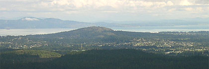 Victoria BC from Mount Finlayson Goldstream Park BC