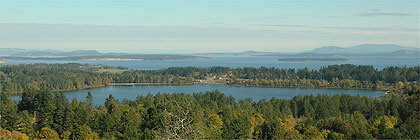 Elk Lake from Dominion Observatory Victoria BC Canada